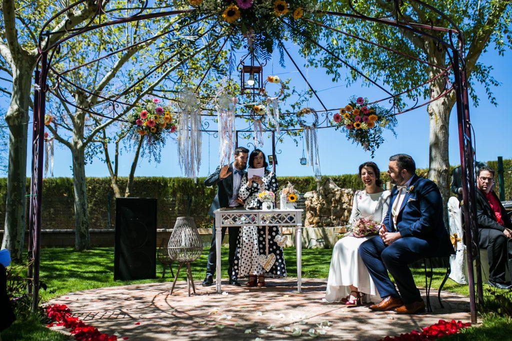 Los novios celebraron su boda en el Complejo Vergilia